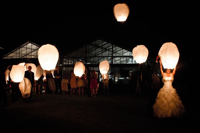 "For a princess wedding.  As in Disney's animation movie ""Raiponce"", release skylanterns"