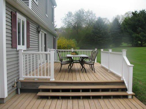 Tiered Backyard Decks : like the tiered decks  Outdoor Patio Ideas  Pinterest