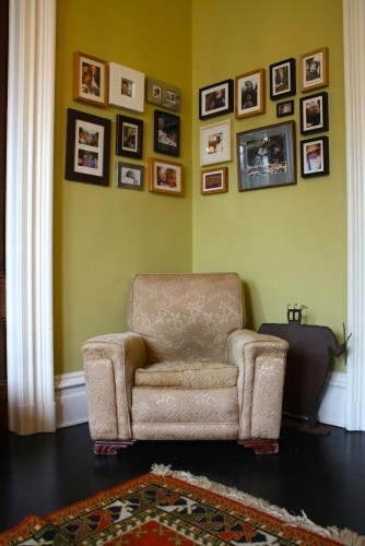 Corner wall in living room
