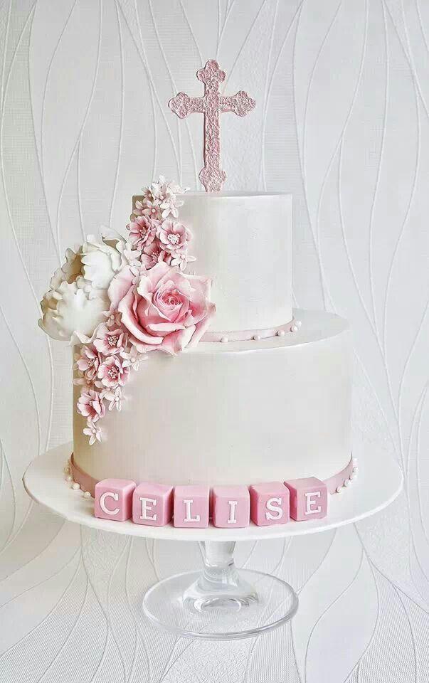 Christening baby girl cake Artistic - Baby Cakes Pinterest