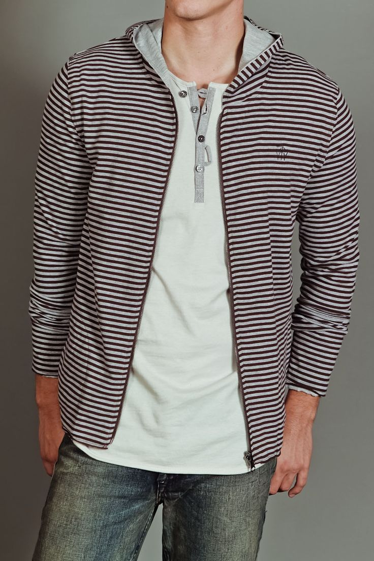 Jackson Striped Zip-Up Hoodie | if i was a guy... | Pinterest