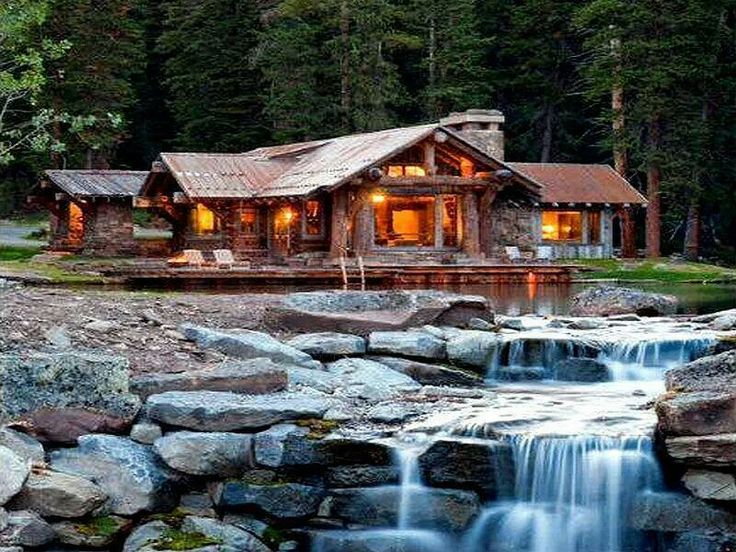Log Cabin On The Lake Favorite Places Spaces Pinterest