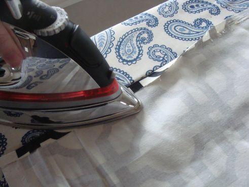 DIY No Sew Faux Roman Shade | The Cerniks