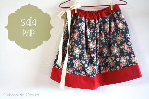 Saia Franzida PAP | Clubinho da Costura