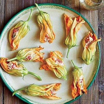 Pimiento Cheese-Stuffed Squash Blossoms | CookingLight.com