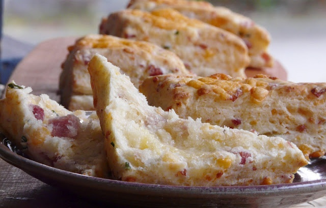 Ham Cheddar and Chive Biscuits | Let's Do Brunch | Pinterest