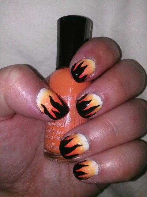 Harley Davidson nails | Nails | Pinterest