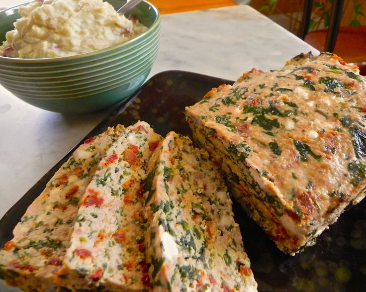 turkey meatloaf with sun dried tomato, spinach and feta | The Good ...