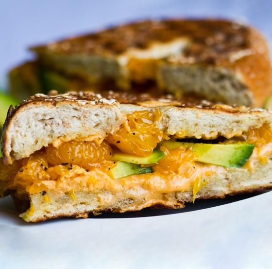 Avocado And Orange Sandwich Recipe — Dishmaps