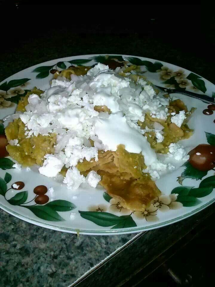 Chilaquiles verdes. | Mexican food. | Pinterest