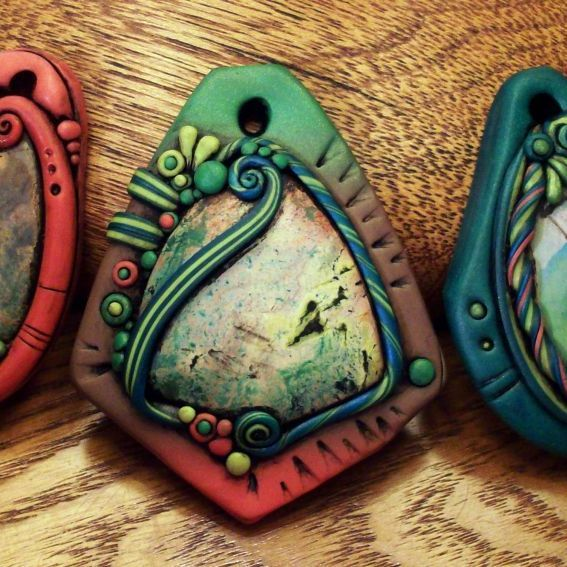 I love the colors in this!  Some of the artwork on Clay Lessons....this is in ChristineK gallery :)