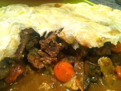 Steak and Mushroom Pot Pie- AKA Beef Stew Pie. Delicious!