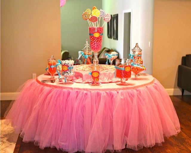 Custom Tulle Table Skirt Wedding Birthday New by BaileyHadaParty, $67 ...