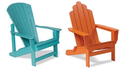 Outdoor Furniture in fun colors.
