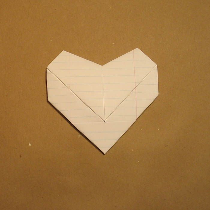fold paper into heart