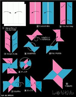 origami ninja star 8 point instructions