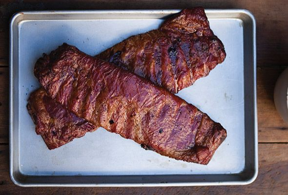 Ribs with Spicy Bourbon Barbecue Sauce from Leite's Culinaria