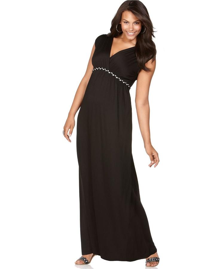 Maxi dresses plus size maxi dresses at macy 39 s for Macy s wedding dresses plus size