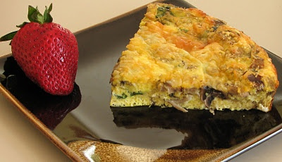 mushroom, spinach, and sausage frittata | fatty but delish | Pinterest