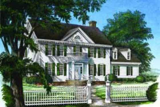 House Plan 137 129 1 Design Center Hall Colonial Home