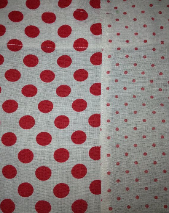 Red & White Polka Dot Vintage Cafe Curtains Panel by JodieMaeLove, $20 ...