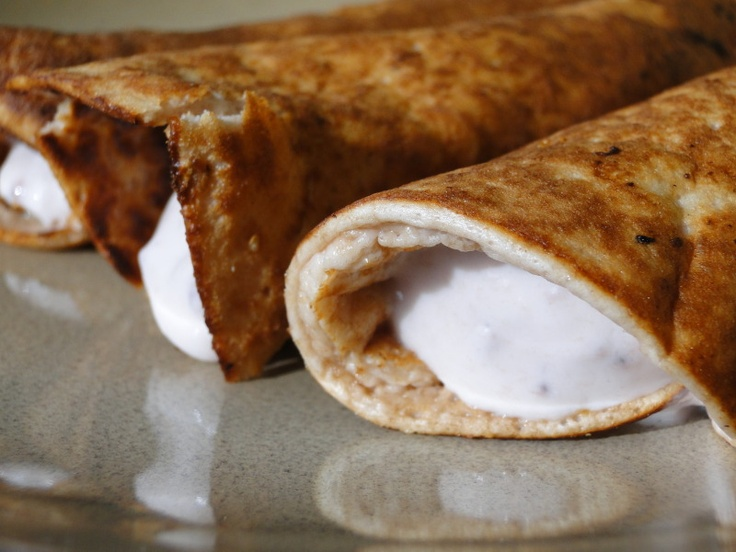 WW-Strawberry Protein Pancake Roll-Ups with Yogurt Filling!-- Had this ...