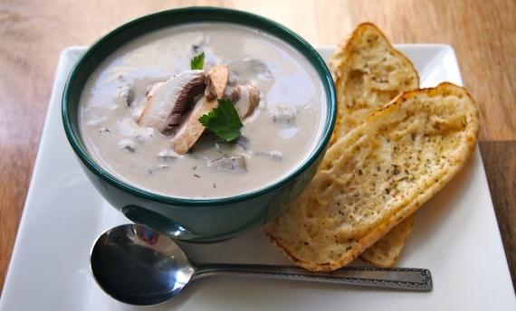 Cashew Cream of Mushroom Soup- from Vegan Sparkles