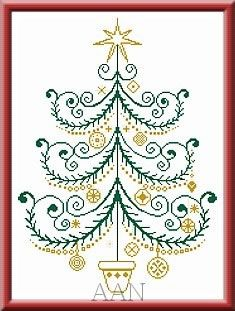 Christmas Tree 43 by Alessandra Adelaide Needleworks -  from Salt & Pepper