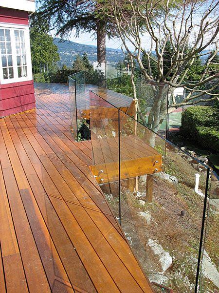 Best Frameless Glass Railing Decks Porches Outdoor Spaces 400 x 300