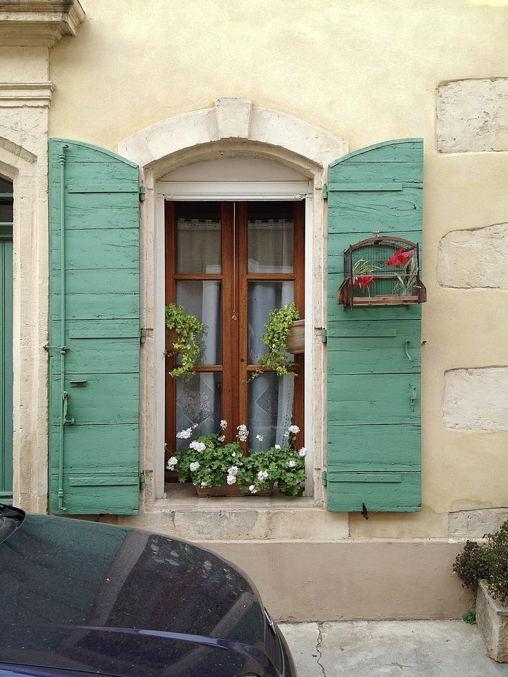 Arles...your window shutters are lovely #windows shutters