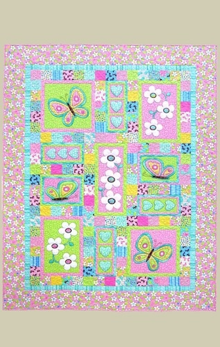 Daisy Chains: FREE Queen Size Quilt Pattern Download