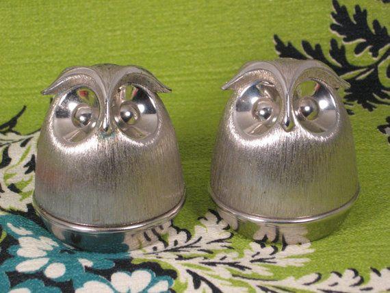 Www etsy com listing 125115737 vintage brushed silvertone metal owl