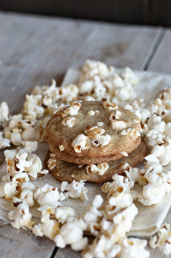 Sweet and Salty Buttered Popcorn Cookies from Dine & Dish ...