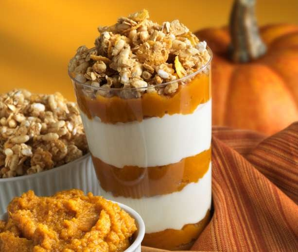 Pumpkin Pie Quinoa Parfait With Gingersnap Pecan Streusel Recipes ...