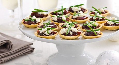 Sweet Caramelised Onion And Feta Tartlets Recipes — Dishmaps