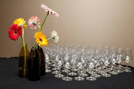 #Custom wine glasses make a classy giveaway at a humane society fundraising event.