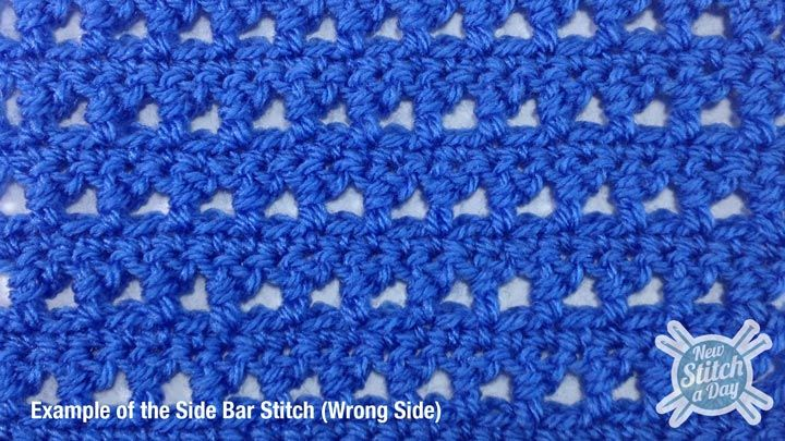 How to Crochet the Side Bar Stitch Crochet/knit/yarn - patterns/tec ...