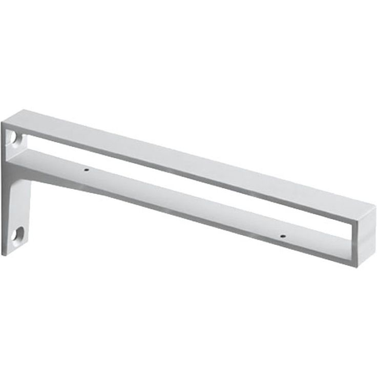 Kitchen Shelf Brackets: BELT Metal Shelf Bracket - Silver