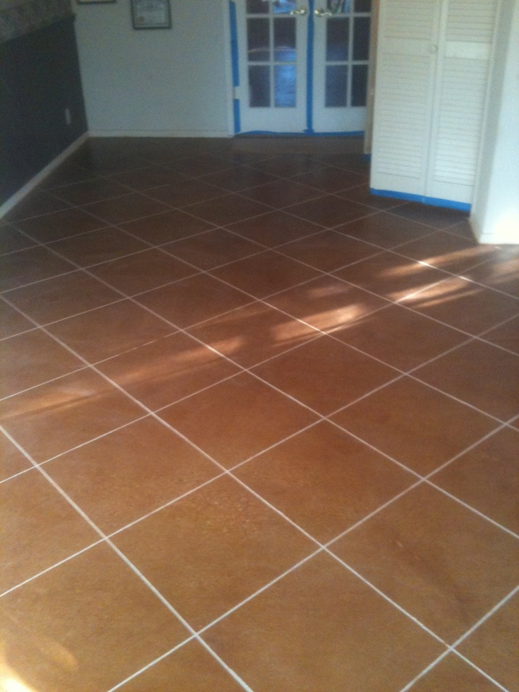 Stained scored concrete stained scored concrete for How to clean scored concrete floors