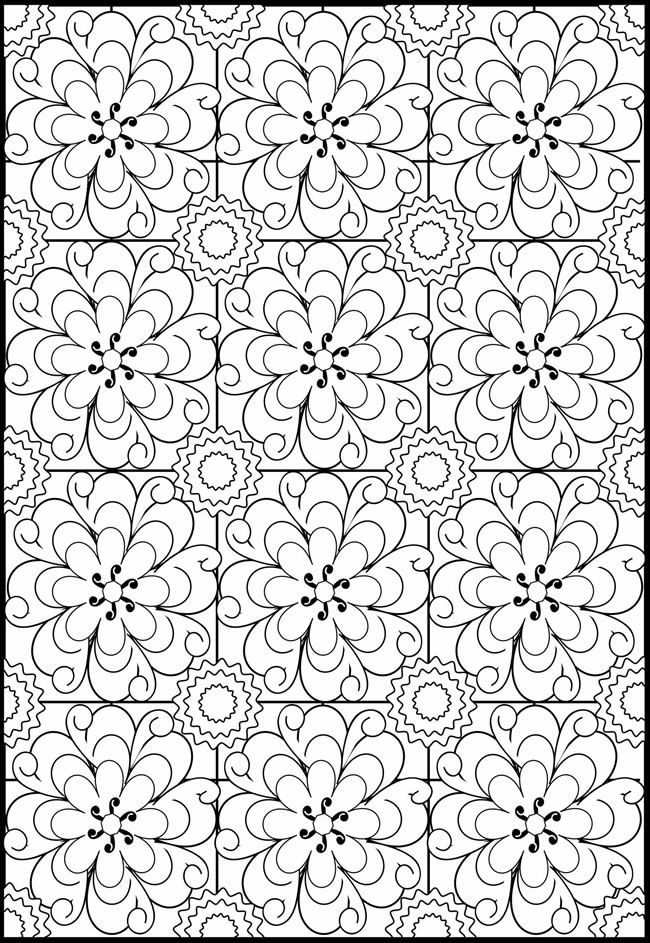 Pretty Patterns Colouring Pages