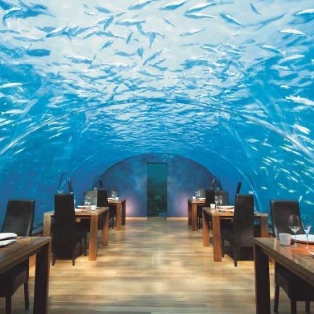 Underwater Hotelrestaurant Maldives Candle Board