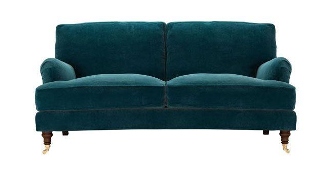 Yummy Teal Velvet Sofa My wishful Home Style Pinterest