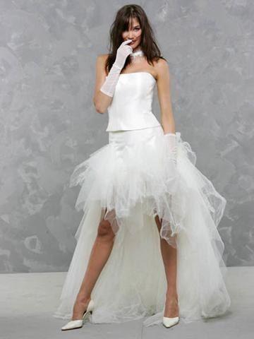 Robe de mariée courte  Novias no convencionales. Not conventional br ...