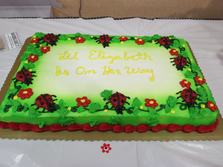 ladybug theme baby shower the cake was done by kroger 39 s
