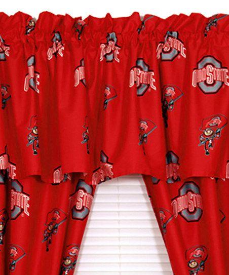 Ohio State Buckeyes Curtain Valance