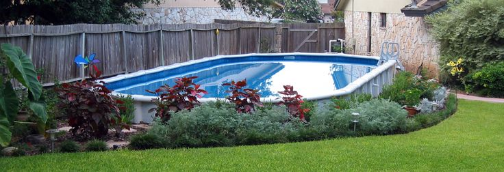 Above Ground Pool Landscaping Going Kelley Green