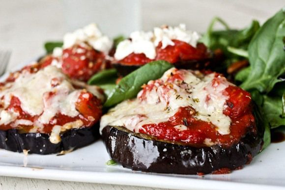 Eggplant Pizzas | You're not eating carbs? | Pinterest