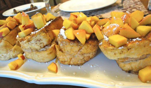 Bed and Breakfast Peaches & Cream Stuffed French Toast. Slathered with ...