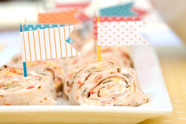 pinwheel sandwiches shower ideas pinterest