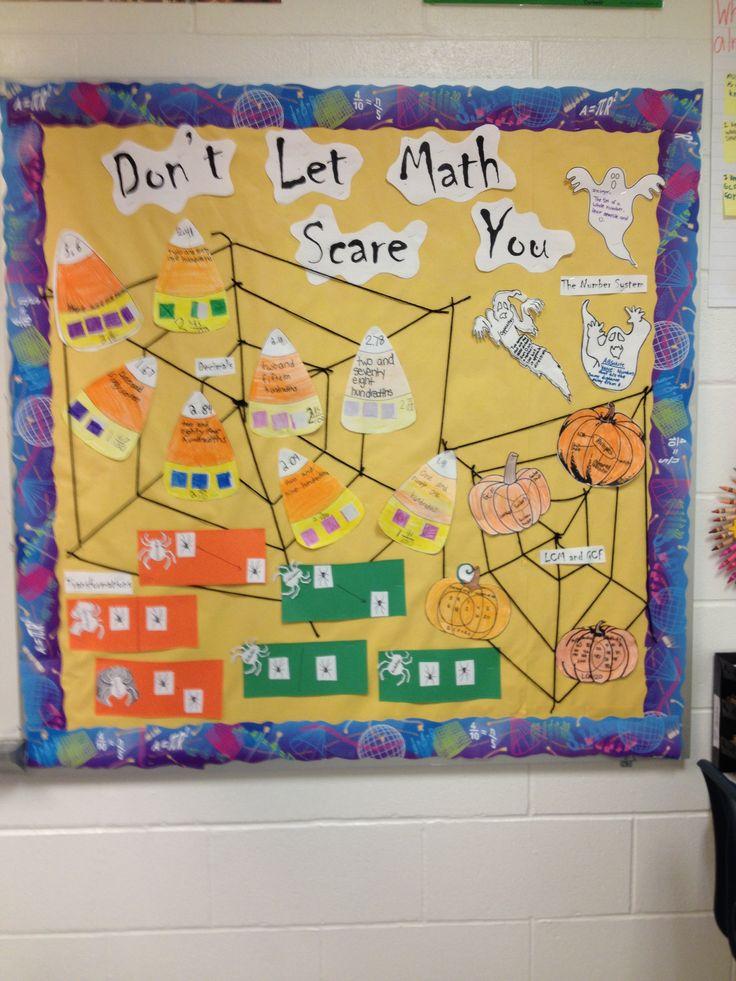 Classroom Design Ideas 4th Grade ~ Ideas about math bulletin boards on pinterest